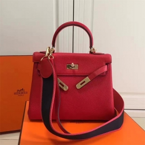 Bolsa Couro Hermes Vermelha Birkin