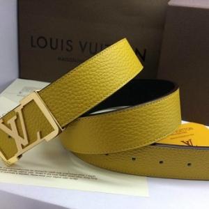 Cinto Amarelo Couro Louis Vuitton