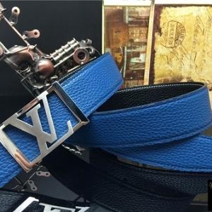 Cinto Azul Couro Louis Vuitton