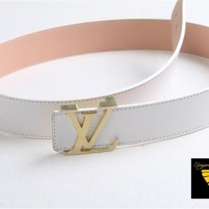 Cinto Branco de Couro Louis Vuitton