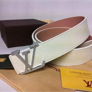 Cinto Branco em Couro Louis Vuitton