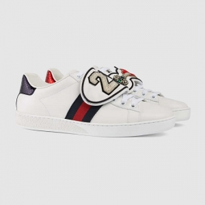 Gucci Tênis 'Ace' com Patches removíveis