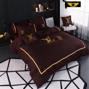 Kit Coordenado Jogo de Cama 4 Pçs. Casal King Size Louis Vuitton