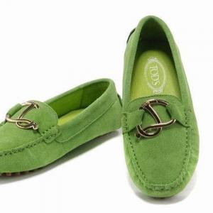Mocassim Verde de Couro Tod's
