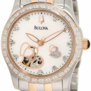 Relógio Bulova Fem Diamonds Analogue Black - 98P118