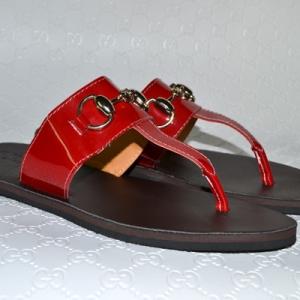 Sandália de couro Gucci