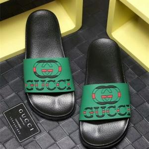 Sandália slipper verde chinelo Gucci
