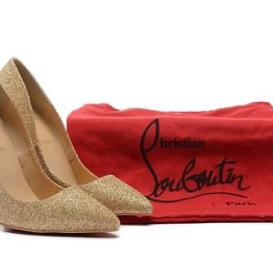Sapato Salto Alto Dourado Christian Louboutin
