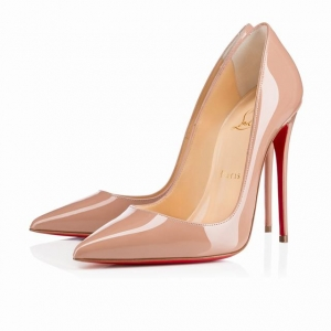 Sapato Salto Alto 12cm. So Kate Nude Christian Louboutin