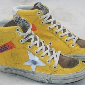 Tênis Cano Alto Amarelo Golden Goose Deluxe Brand