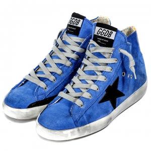 Tênis Cano Alto Azul Golden Goose Deluxe Brand