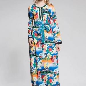 Vestido Dolce&Gabbana azul floral