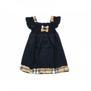 Vestido Infantil Manga Curta Burberry
